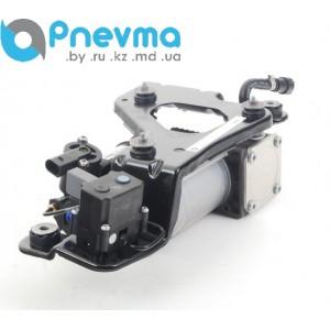 Компрессор пневматической подвески с блоком клапанов на кронштейне (оригинал)
