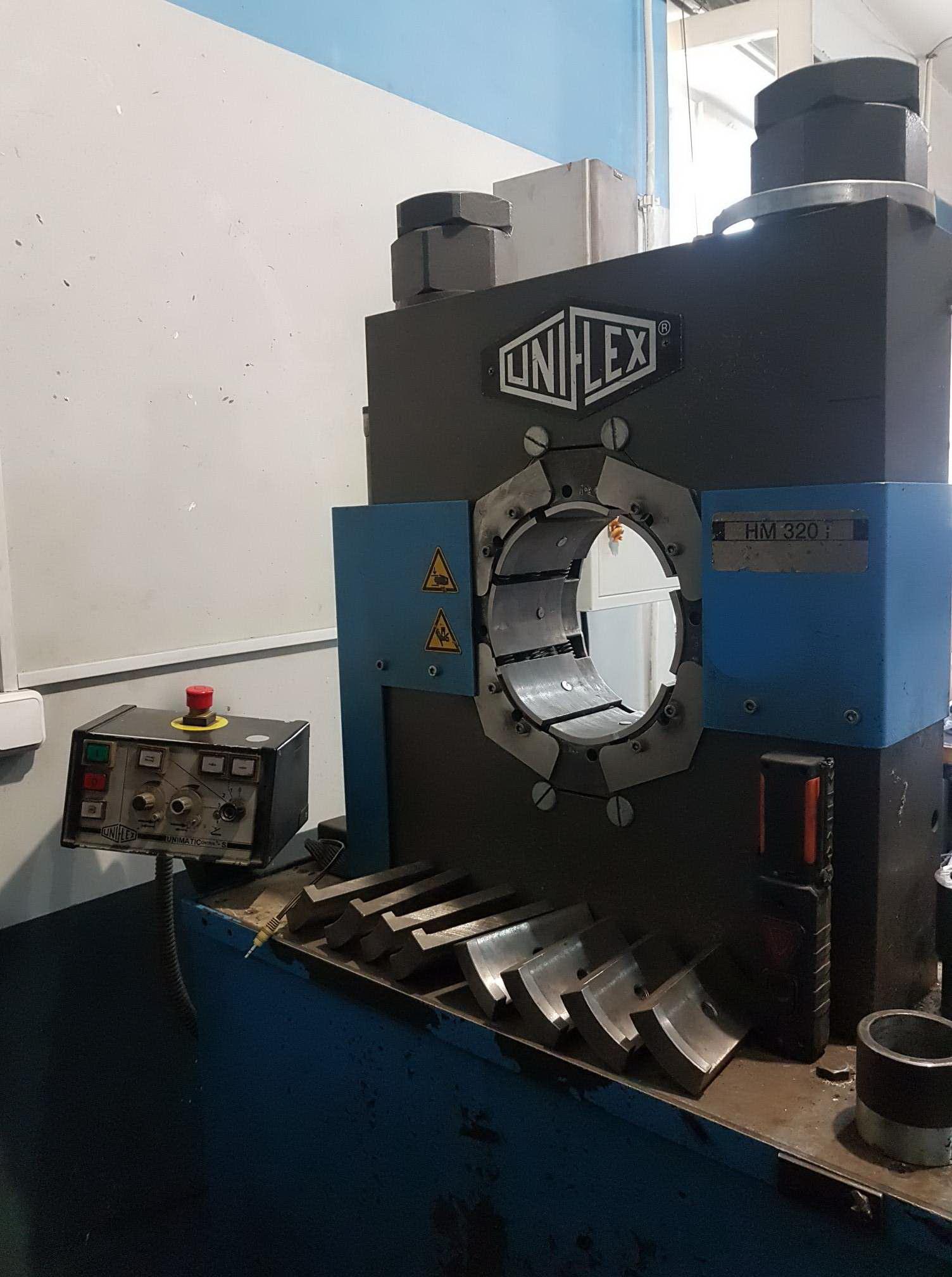 Uniflex пресс для обжатия пневмобаллонов, рукавов, оборудование для опрессовки пневмобаллонов
